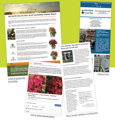 Sample horticultural marketing material