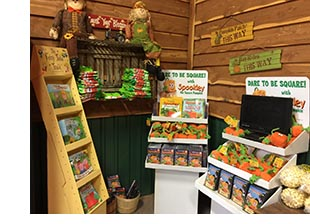 Evergreen Creations merch display