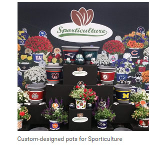 Custom-designed pots for Sporticulture