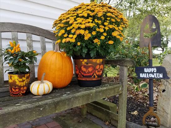 Halloween theme - daVinci decorated pot